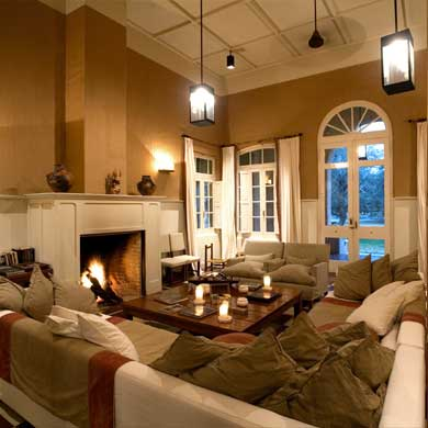 Roaring log fires keep out the winter chill